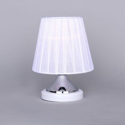 Купить Лампа настольная Россвет РС20178 WT+CR/1T 1*E14*60Вт в Санкт-Петербурге по недорогой цене и с быстрой доставкой.
