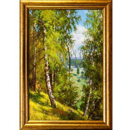 Купить Картина в раме Берёзы в лесу 30х20см в Санкт-Петербурге по недорогой цене и с быстрой доставкой.
