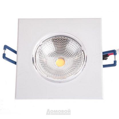 Купить Светильник встраиваемый ЭРА KL LED 10A WH-3K светодиодный квадратный поворот. LED COB 5W 3000K