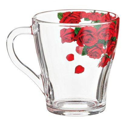 Купить Кружка Розарий 280мл стекло в Санкт-Петербурге по недорогой цене и с быстрой доставкой.