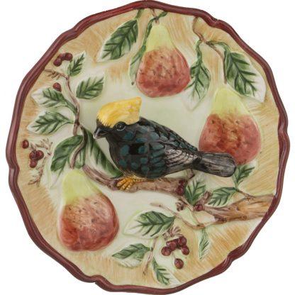 Купить Тарелка декоративная Птица на грушевой ветке