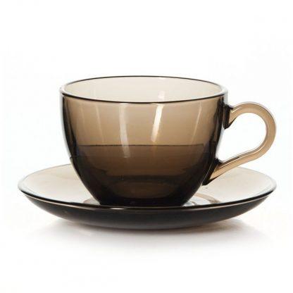 Купить Набор чайный Броунз 6/12пр 220мл стекло в Санкт-Петербурге по недорогой цене и с быстрой доставкой.