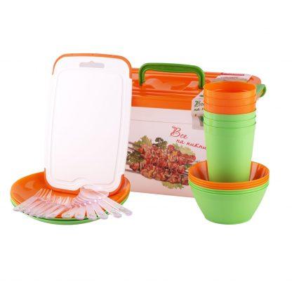 Купить Набор посуды д/пикника на 6 персон