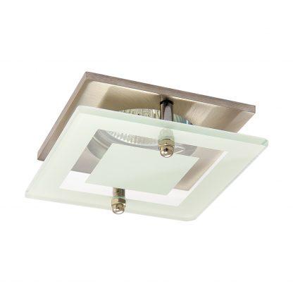 Купить Светильник встраиваемый Акцент WL-274 квадратный с накладным стеклом