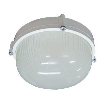 Купить Светильник банный НПП-100w круглый термостойкий без решетки IP54 белый в Санкт-Петербурге по недорогой цене и с быстрой доставкой.