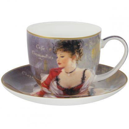 Купить Пара чайная За чашкой кофе 280мл фарфор в Санкт-Петербурге по недорогой цене и с быстрой доставкой.
