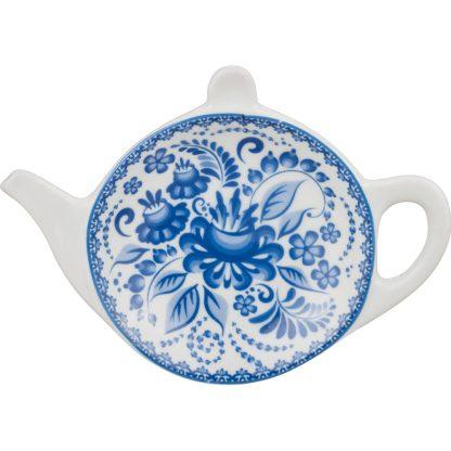 Купить Подставка под чайный пакетик Гжель 11см фарфор в Санкт-Петербурге по недорогой цене и с быстрой доставкой.