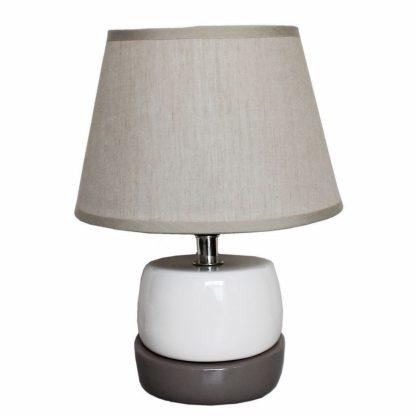 Купить Лампа настольная Символ Света CT20003 BEG 1*Е14*60Вт серый/абажур бежевый в Санкт-Петербурге по недорогой цене и с быстрой доставкой.