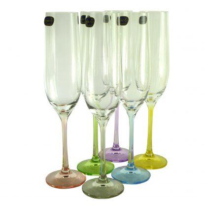 Купить Набор бокалов д/шампанского Виола Ассорти