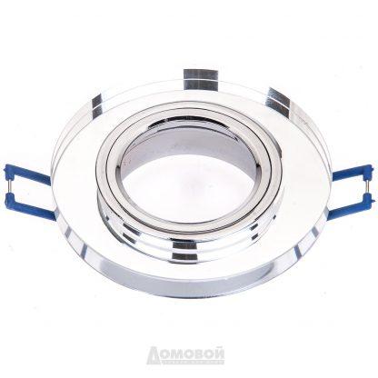 Купить Светильник встраиваемый ЭРА DK7 CH/WH  декор стекло круглое хром/зеркальный в Санкт-Петербурге по недорогой цене и с быстрой доставкой.