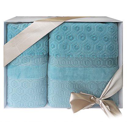 Купить Комплект махровых полотенец Smeraldo