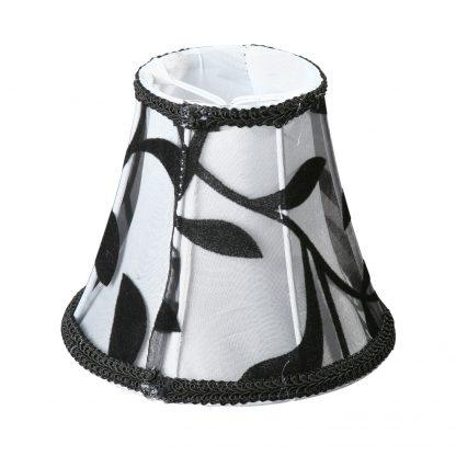 Купить Абажур VITALUCE VL0404 Орамент 80/130/150мм 1*Е14*60Вт ушки/бело-черный в Санкт-Петербурге по недорогой цене и с быстрой доставкой.