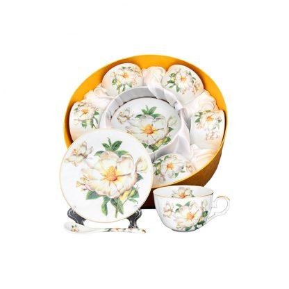 Купить Набор чайный Шиповник 6/12пр 250мл фарфор в Санкт-Петербурге по недорогой цене и с быстрой доставкой.