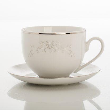 Купить Пара чайная Жемчужный узор 450мл фарфор в Санкт-Петербурге по недорогой цене и с быстрой доставкой.