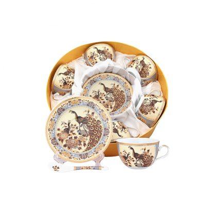 Купить Набор чайный Павлин 6/12пр 250мл фарфор в Санкт-Петербурге по недорогой цене и с быстрой доставкой.