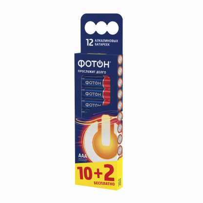 Купить Элемент питания ФОТОН LR03 BP12 в Санкт-Петербурге по недорогой цене и с быстрой доставкой.