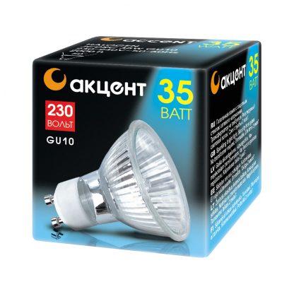 Купить Лампа галогенная АКЦЕНТ JCDRC 230V 35W GU10 в Санкт-Петербурге по недорогой цене и с быстрой доставкой.
