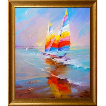 Купить Картина в раме Паруса 50х60см в Санкт-Петербурге по недорогой цене и с быстрой доставкой.