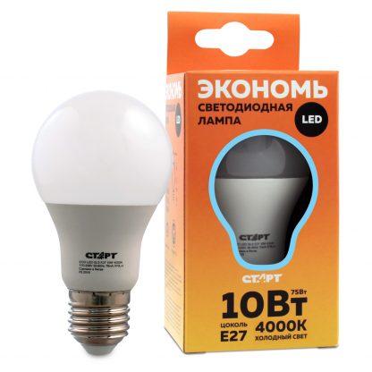 Купить Лампа светодиодная СТАРТ ECO LEDGLSE27 10W 40  груша холодн в Санкт-Петербурге по недорогой цене и с быстрой доставкой.