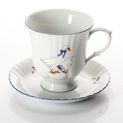 Купить Пара чайная Гуси 400мл фарфор в Санкт-Петербурге по недорогой цене и с быстрой доставкой.