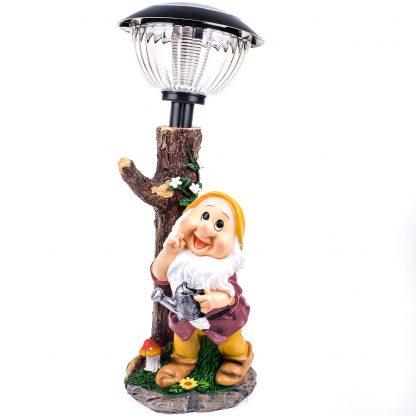 Купить Фигура садовая Гном с фонарем