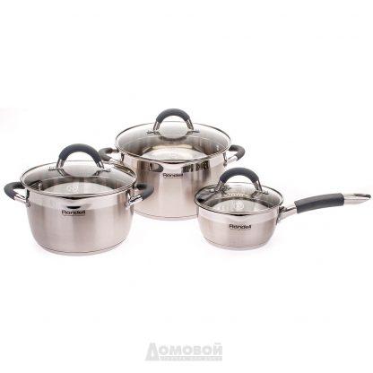 Купить Набор посуды Rondell RDS-341 Flamme (2 кастрюли+ковш)