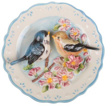 Купить Тарелка декоративная Птица на яблоневой ветке