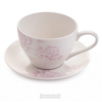 Купить Пара чайная Peonies 315мл костяной фарфор в Санкт-Петербурге по недорогой цене и с быстрой доставкой.