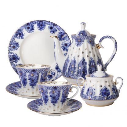Купить Сервиз чайный Лучистая Корзиночка 6/20пр 235мл фарфор в Санкт-Петербурге по недорогой цене и с быстрой доставкой.