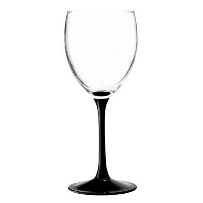 Купить Набор бокалов д/вина Домино 6шт 350мл черная ножка стекло в Санкт-Петербурге по недорогой цене и с быстрой доставкой.