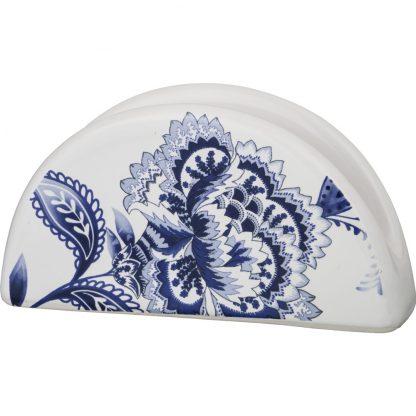 Купить Салфетница Гжель 14см керамика в Санкт-Петербурге по недорогой цене и с быстрой доставкой.