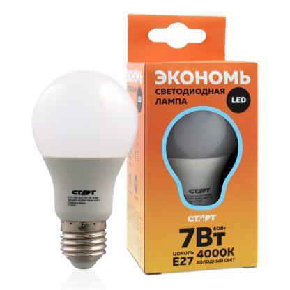 Купить Лампа светодиодная СТАРТ ECO LEDGLSE27 7W 40 груша холодн в Санкт-Петербурге по недорогой цене и с быстрой доставкой.
