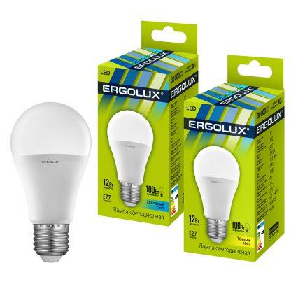 Купить Лампа светодиодная Ergolux LED-A60-12W-E27-4K ЛОН 12Вт E27 4500K 172-265В в Санкт-Петербурге по недорогой цене и с быстрой доставкой.