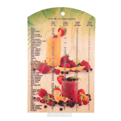 Купить Доска разделочная Таблица меры и веса