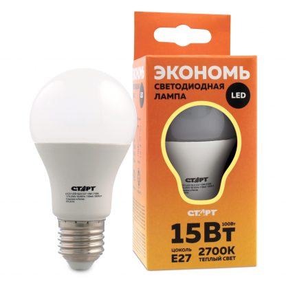 Купить Лампа светодиодная СТАРТ ECO LEDGLSE27 15W 30 груша тепл в Санкт-Петербурге по недорогой цене и с быстрой доставкой.