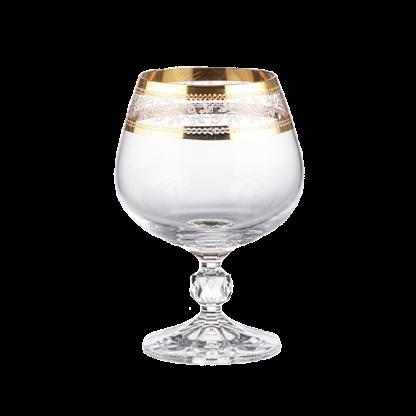 Купить Набор бокалов д/бренди Клаудия 6шт 250мл панто золото