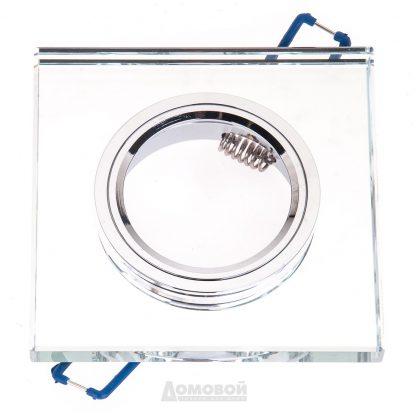 Купить Светильник встраиваемый ЭРА DK8 CH/WH  декор стекло квадрат MR16