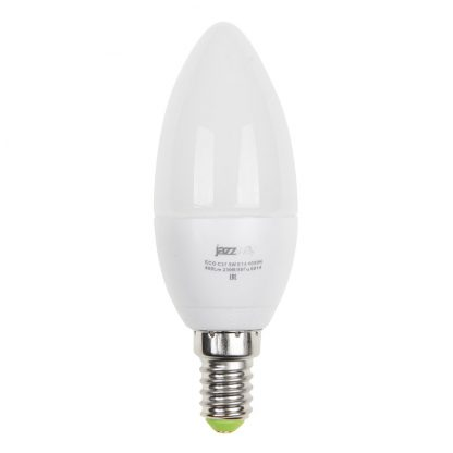 Купить Лампа светодиодная PLED- ECO-C37 5w E14 4000K 400Lm Jazzway в Санкт-Петербурге по недорогой цене и с быстрой доставкой.