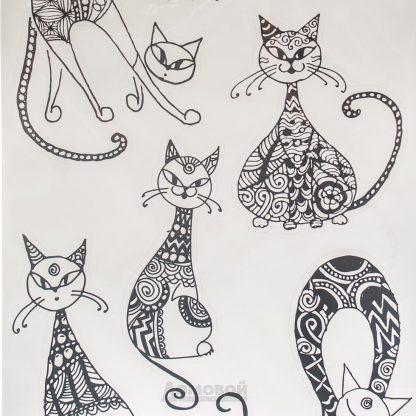 Купить Набор наклеек Необычный кот