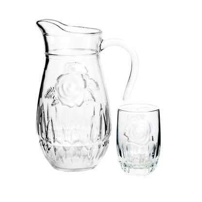 Купить Набор для напитков Структурная роза 7 пр (кувшин +6ст 270мл) стекло в Санкт-Петербурге по недорогой цене и с быстрой доставкой.