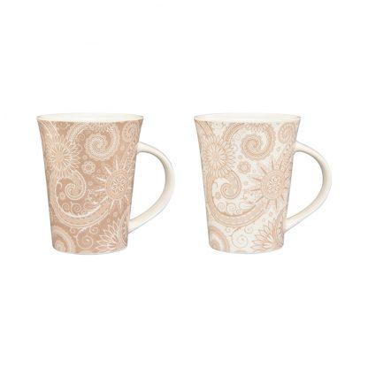 Купить Набор кружек Узор 2шт 320мл керамика в Санкт-Петербурге по недорогой цене и с быстрой доставкой.
