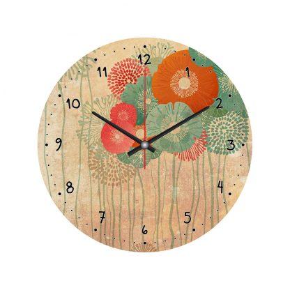 Купить Часы настенные Полевые цветы