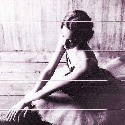 Купить Картина на досках Балерина 60х80см в Санкт-Петербурге по недорогой цене и с быстрой доставкой.