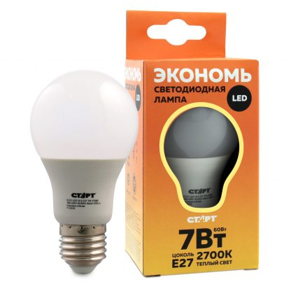 Купить Лампа светодиодная СТАРТ ECO LEDGLSE27 7W 30 груша тепл в Санкт-Петербурге по недорогой цене и с быстрой доставкой.