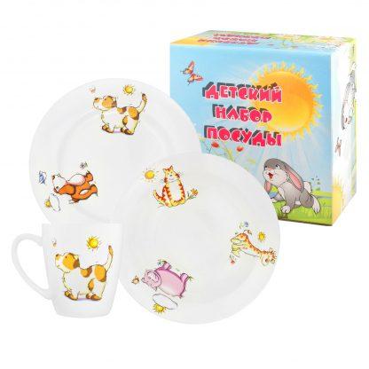Купить Набор детской посуды Зоопарк