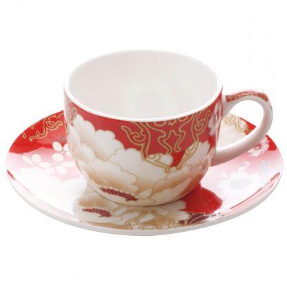 Купить Набор кофейный Кимоно красный 2/4пр 100млфарфор в Санкт-Петербурге по недорогой цене и с быстрой доставкой.