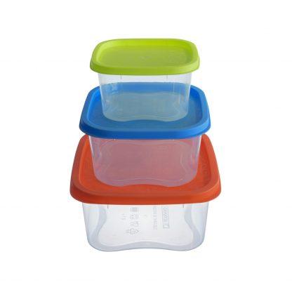 """Купить Набор контейнеров д/продуктов """"Фокус"""" квадр. 3шт. 0"""