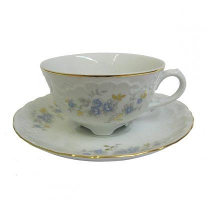 Купить Пара чайная Голубой цветок низкая