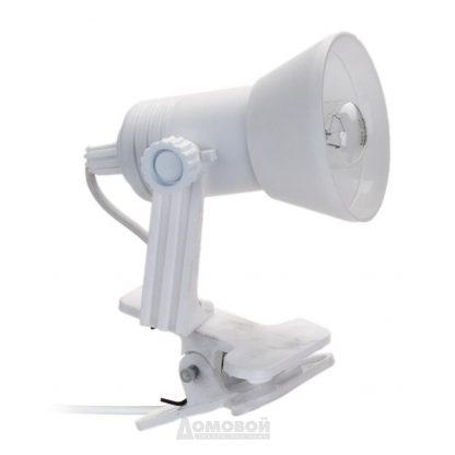 Купить Лампа настольная на прищепке Реальная электрика 1*Е14*15Вт пластик/белая в Санкт-Петербурге по недорогой цене и с быстрой доставкой.