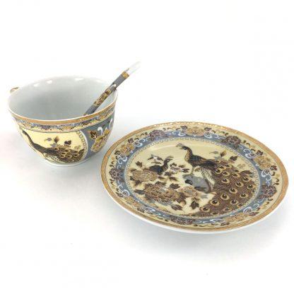 Купить Пара чайная Павлин на бежевом  250мл